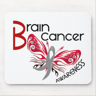 Brain Cancer BUTTERFLY 3 Mouse Pad
