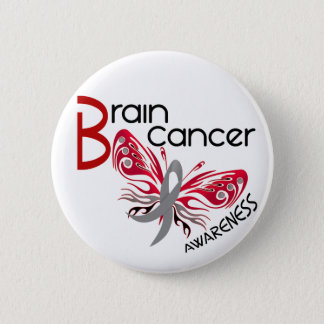 Brain Cancer BUTTERFLY 3 Pinback Button