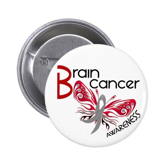 Brain Cancer BUTTERFLY 3 Pinback Button