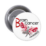 Brain Cancer BUTTERFLY 3 Pinback Buttons