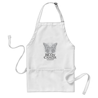 Brain Cancer Butterfly Adult Apron
