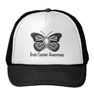 Brain Cancer Butterfly Awareness Ribbon Trucker Hat