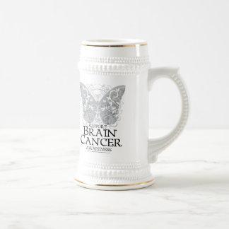 Brain Cancer Butterfly Beer Stein