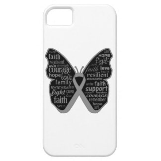 Brain Cancer Butterfly Collage of Words iPhone 5 Cover