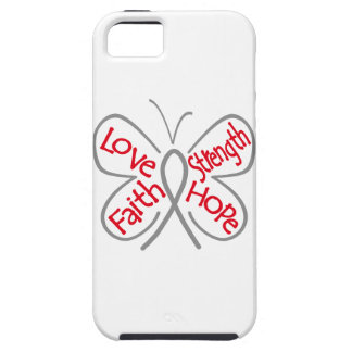 Brain Cancer Butterfly Inspiring Words iPhone 5 Cases