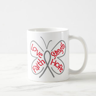 Brain Cancer Butterfly Inspiring Words Coffee Mug