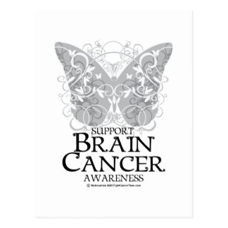 Brain Cancer Butterfly Post Card