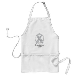 Brain Cancer Butterfly Ribbon Adult Apron