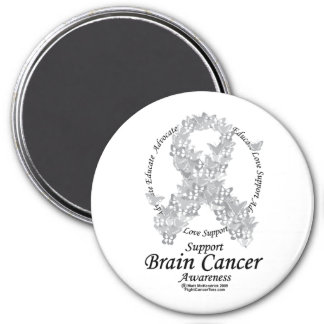 Brain Cancer Butterfly Ribbon Magnet