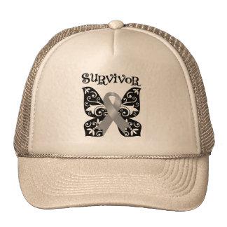 Brain Cancer Butterfly Survivor Trucker Hat
