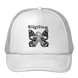 Brain Cancer Butterfly Survivor Hat