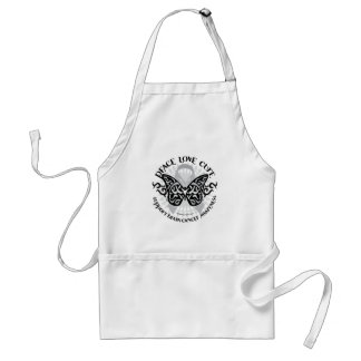 Brain Cancer Butterfly Tribal Adult Apron