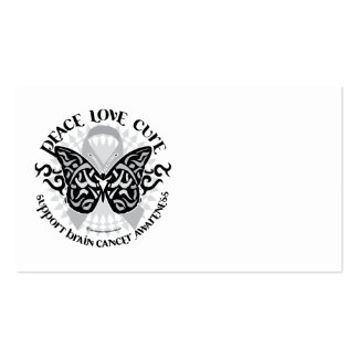 Brain Cancer Butterfly Tribal Business Card