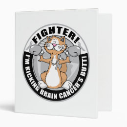 Brain Cancer Cat Fighter 3 Ring Binder