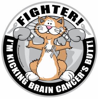 Brain Cancer Cat Fighter Statuette