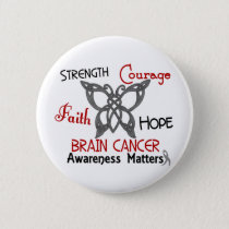 Brain Cancer Celtic Butterfly 3 Pinback Button