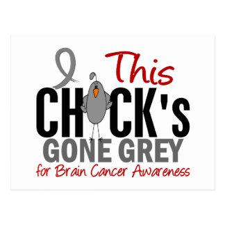 BRAIN CANCER Chick Gone Grey Postcard
