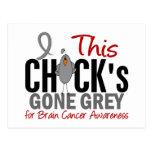BRAIN CANCER Chick Gone Grey Postcards