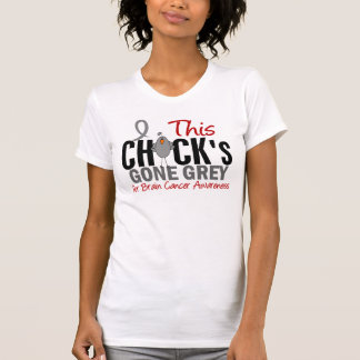 BRAIN CANCER Chick Gone Grey T-Shirt