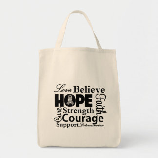 Brain Cancer Collage of Hope Canvas Bags