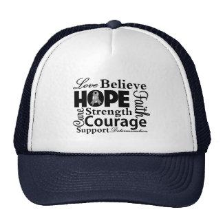 Brain Cancer Collage of Hope Trucker Hat