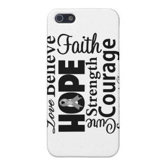 Brain Cancer Collage of Hope iPhone 5 Cases