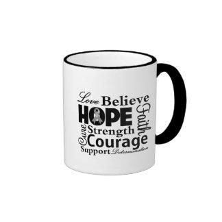Brain Cancer Collage of Hope Mug