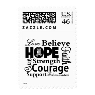Brain Cancer Collage of Hope Stamps