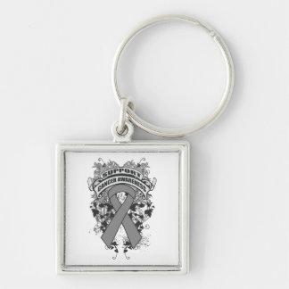 Brain Cancer - Cool Support Awareness Slogan Keychain