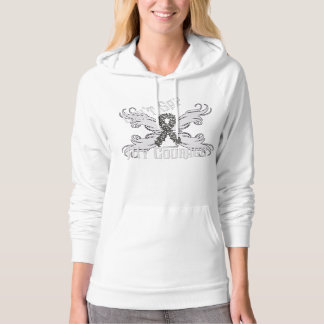 Brain Cancer Courage  Ladies Hoodie