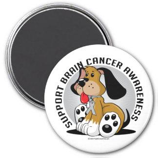 Brain Cancer Dog 3 Inch Round Magnet