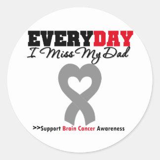 Brain Cancer Every Day I Miss My Dad Sticker