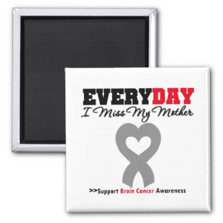 Brain Cancer Every Day I Miss My Mother 2 Inch Square Magnet