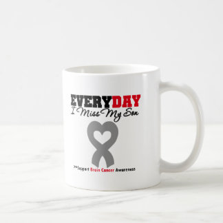 Brain Cancer Every Day I Miss My Son Coffee Mugs