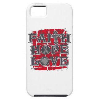 Brain Cancer Faith Hope Love iPhone 5 Cases