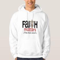 Brain Cancer Faith Matters Cross 1 Hoodie