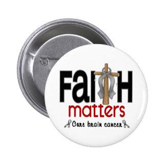 Brain Cancer Faith Matters Cross 1 Pinback Button