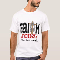 Brain Cancer Faith Matters Cross 1 T-Shirt