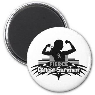 Brain Cancer Fierce Cancer Survivor Refrigerator Magnets