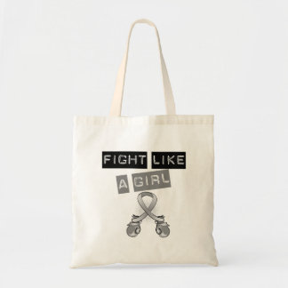 Brain Cancer Fight Like A Girl Budget Tote Bag