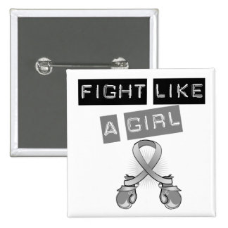 Brain Cancer Fight Like A Girl 2 Inch Square Button