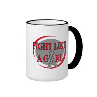 Brain Cancer Fight Like A Girl Circular Mug