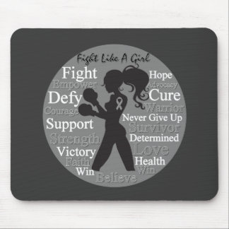 Brain Cancer Fight Like A Girl Collage Mouse Pad