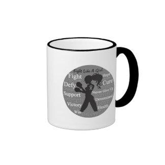 Brain Cancer Fight Like A Girl Collage Coffee Mug