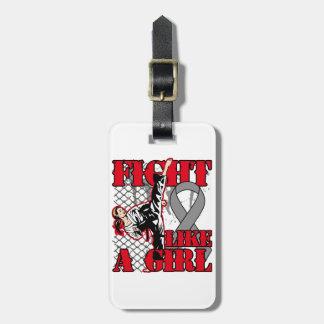 Brain Cancer Fight Like A Girl Kick Bag Tag