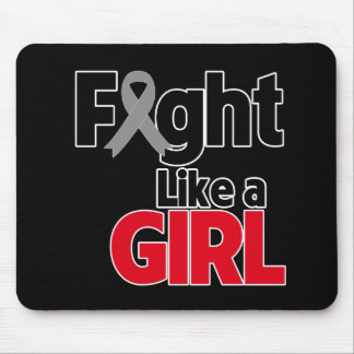 Brain Cancer Fight Like a Girl Mouse Pad