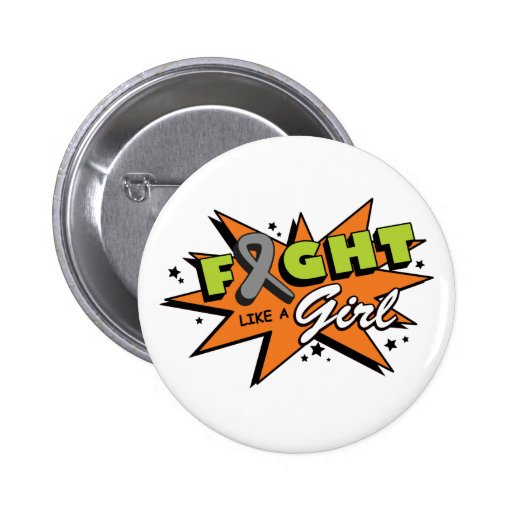 Brain Cancer Fight Like A Girl POW! Buttons