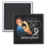 Brain Cancer Fight Like a Girl Rosie The Riveter Magnets