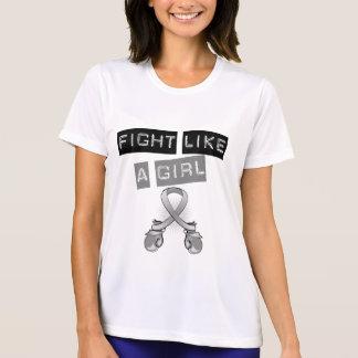 Brain Cancer Fight Like A Girl Shirt