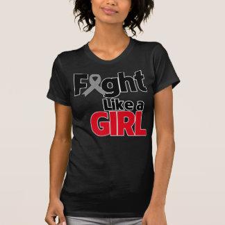 Brain Cancer Fight Like a Girl T-shirts